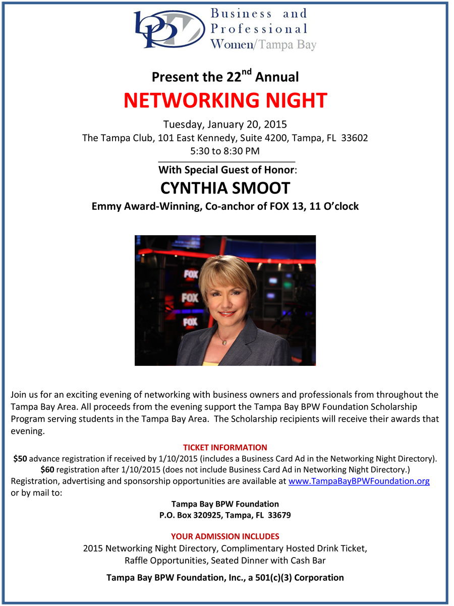 2015 Networking Night Flyer